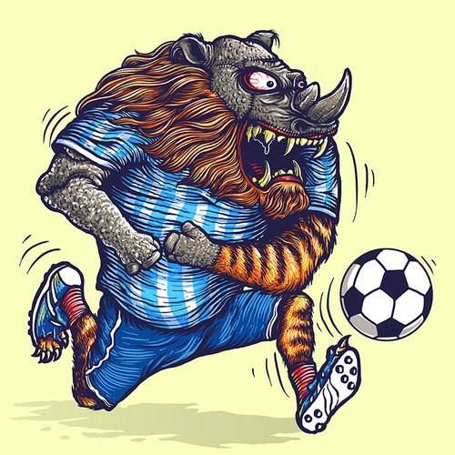 THE BEAST MASCOT! WTF!!!!! PART 1!!! Half Rhino! Half Lion! All scary!!!!!!!! HELP +ME, LLC!