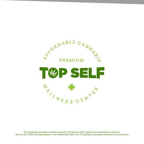 Top Self Cannabis Logo Concept