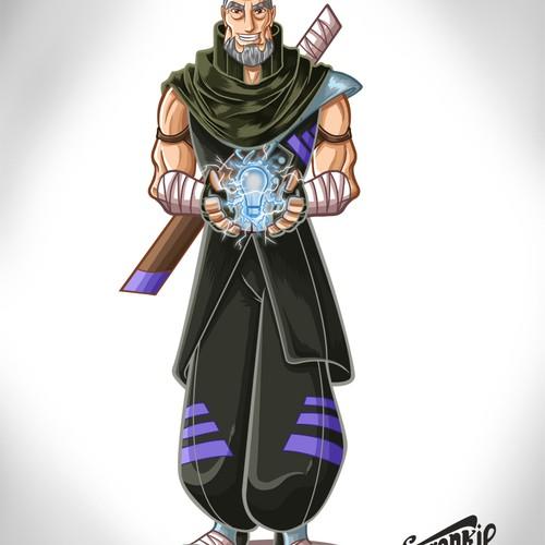 Create a ninja-sensei style company brand mascot