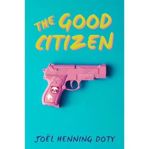 Bold pop-art book cover for a dystopian novel
