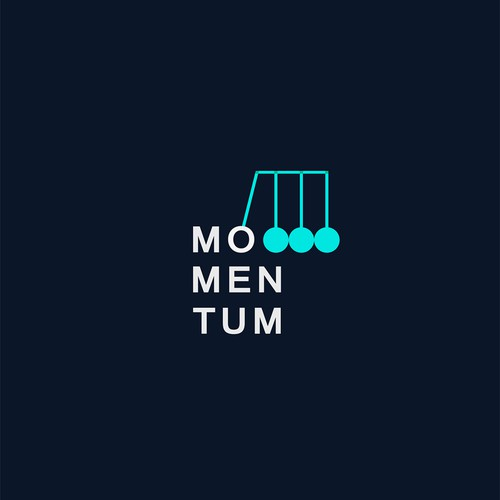 Create a capturing illustration of how stories spread online in a logo for Momentum