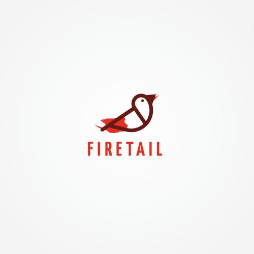 minimal firetail bird logo for fashion company