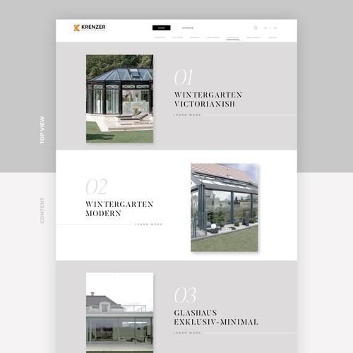 Minimalist design for architect website