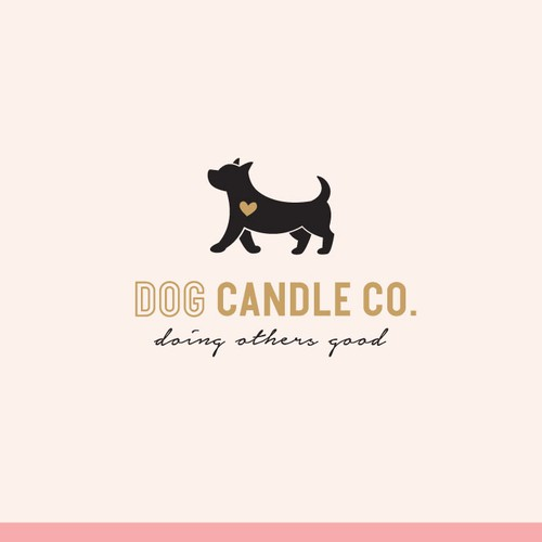 A feminine logo for a candle company