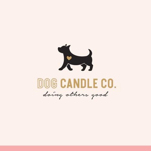 A feminine logo for a candle company
