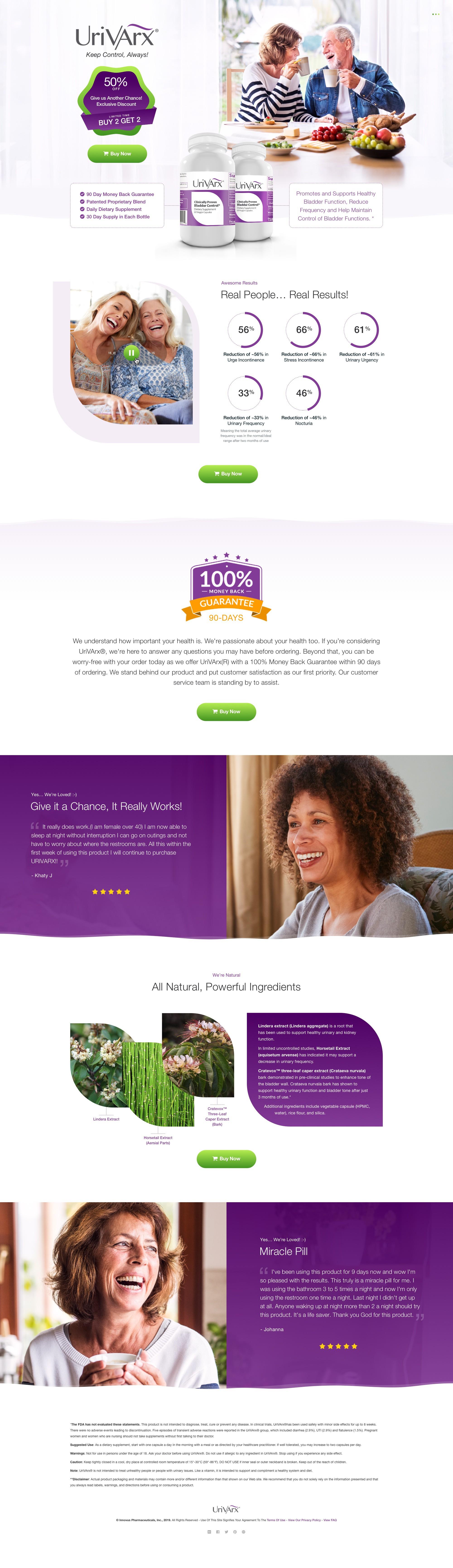 UriVArx Medium Form Landing Page - Content provided (needs redesign)