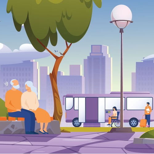 IoT of transport and people with disability