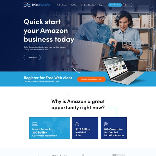 Website Complete Redesign For Online Amazon Training Business