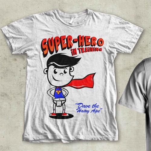 Children's Super-Hero T-Shirt Design..!!