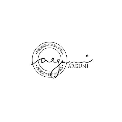 Arguni-logo entry for an online retail shop (white)