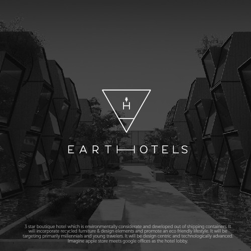 logo concept for design hotel