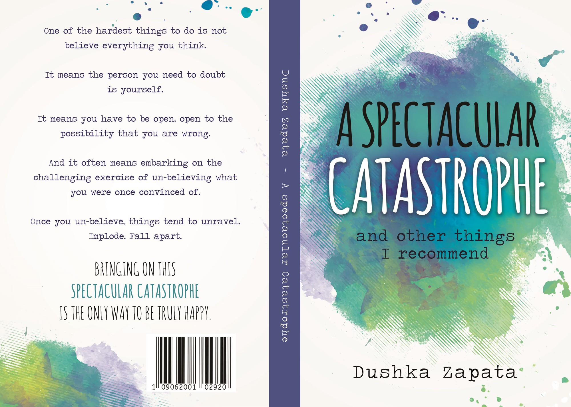 Book cover A spectacular Catastrophe and other things I recommend