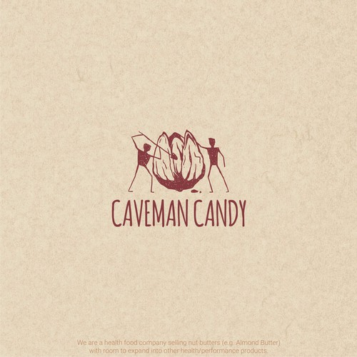 logo design for caveman candy
