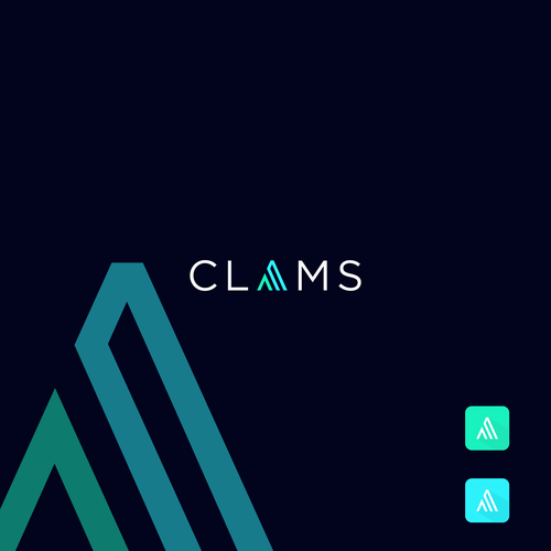 Design a logo for CLAMS the first AI bot that HELPS ppl get out of Debt