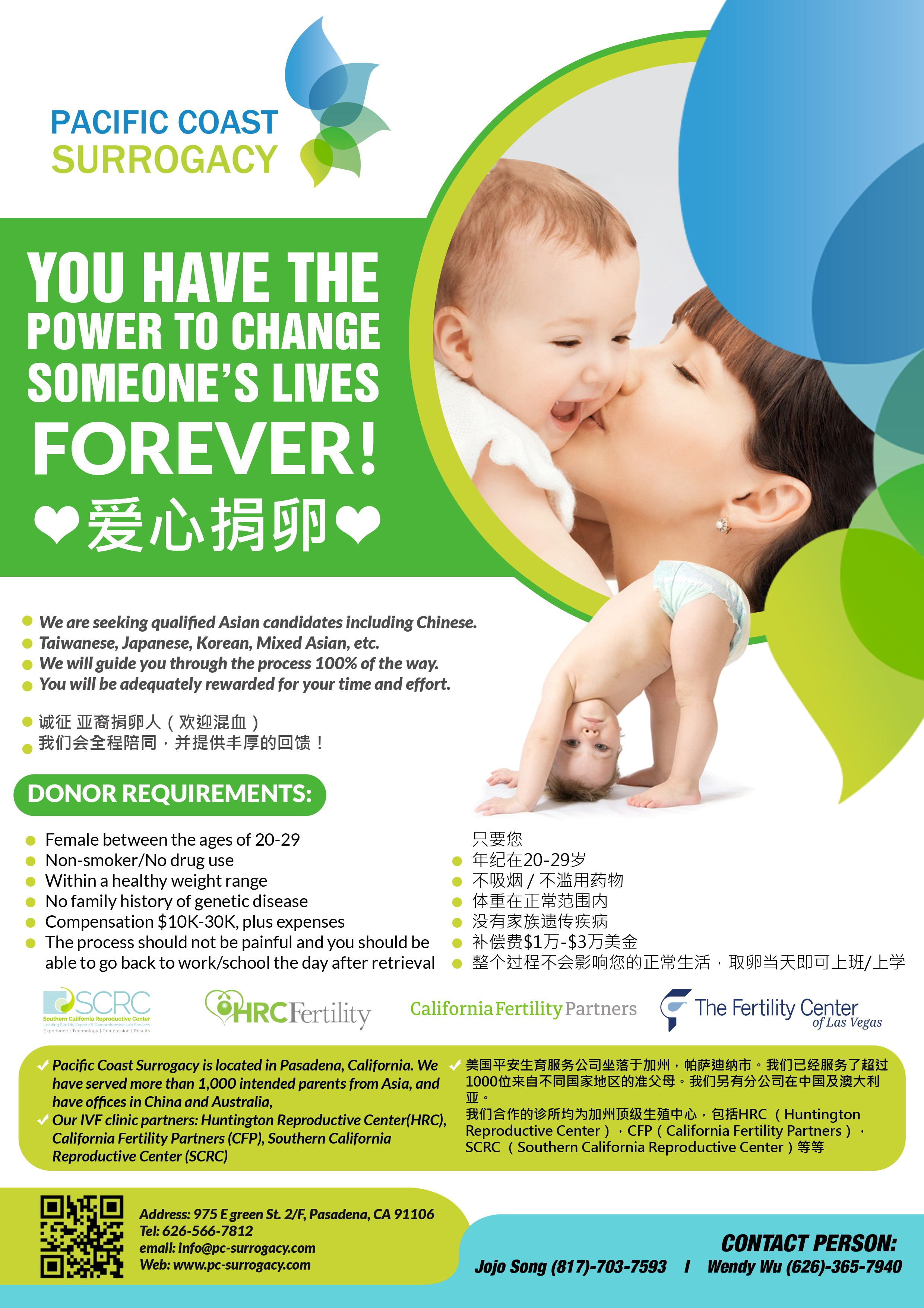 A poster to solicit egg donors