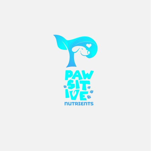 Logo design concept for pet food company.