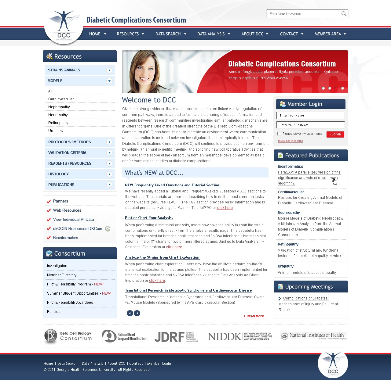 Create the next website design for Diabetic Complications Consortium