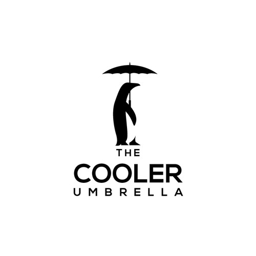 Simple and clean logo for The Cooler Umbrella