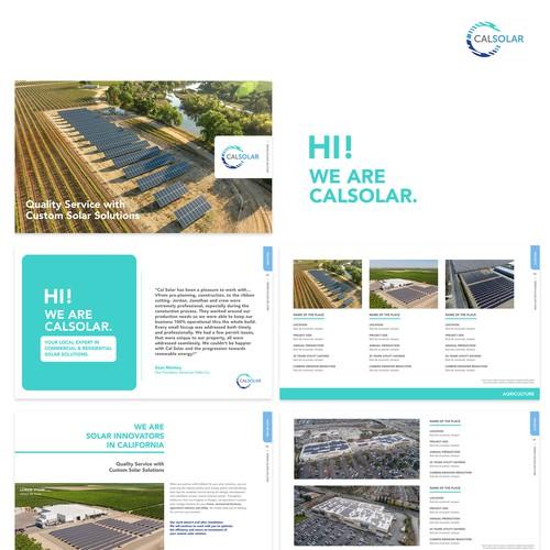 Catalogue template for solar company
