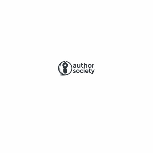 Minimalistic logo for AuthorSociety