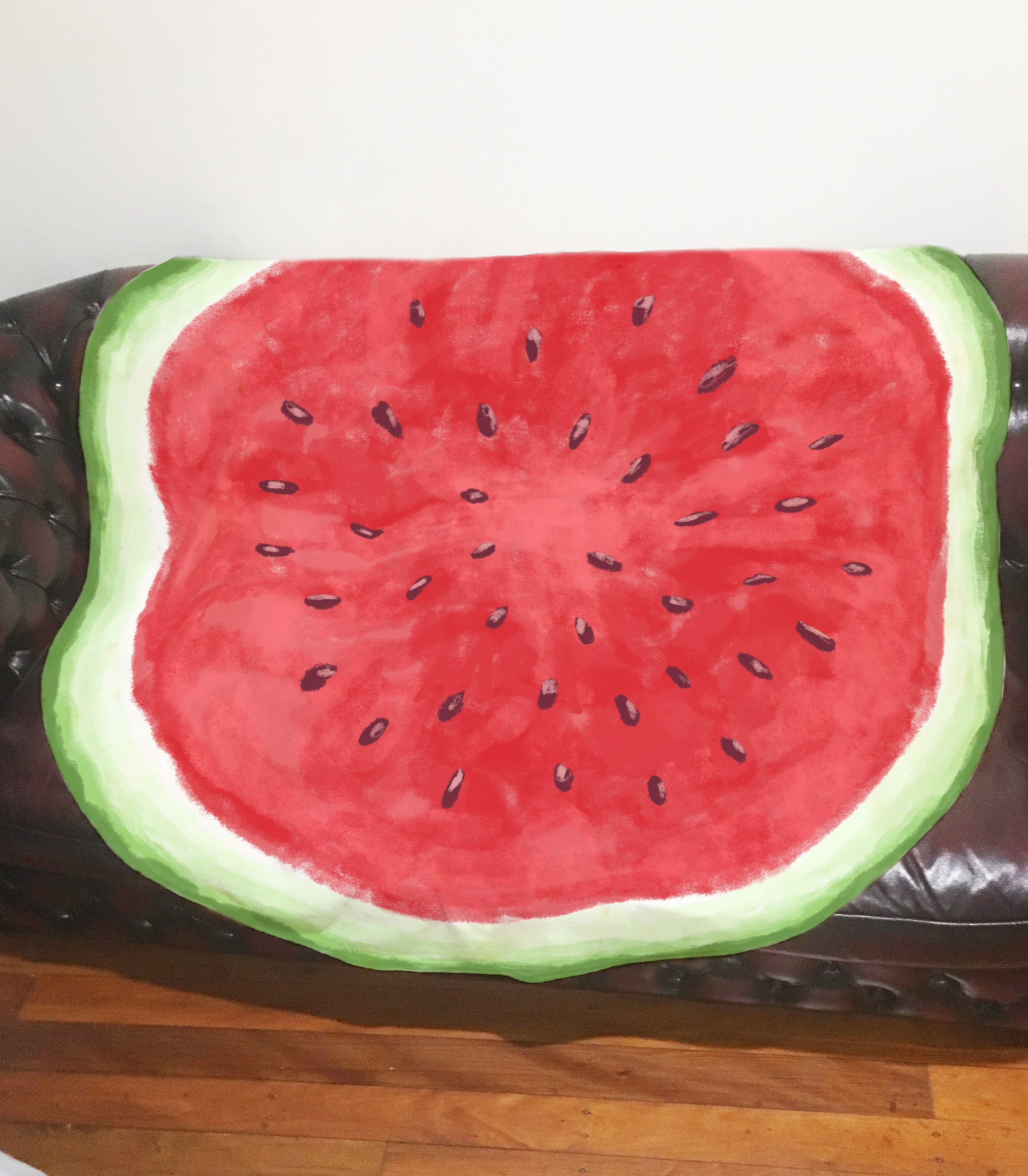 We need an eye catching watermelon design for a novelty blanket