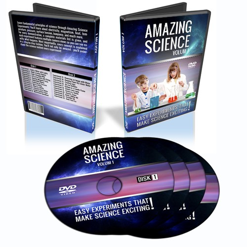 DVD cover design for science video