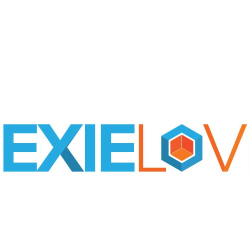 Create a hexagon inspired magazine logo for the quilt magazine, Hexie Love.