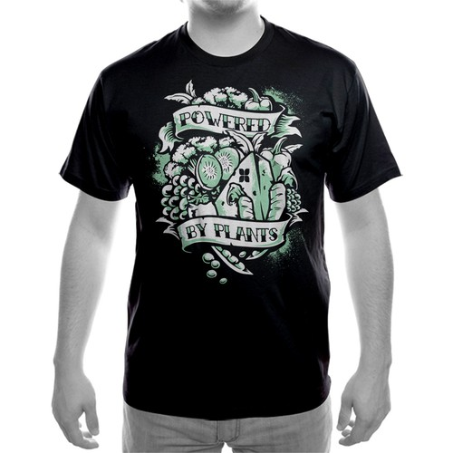 vegan tshirt tattoo style