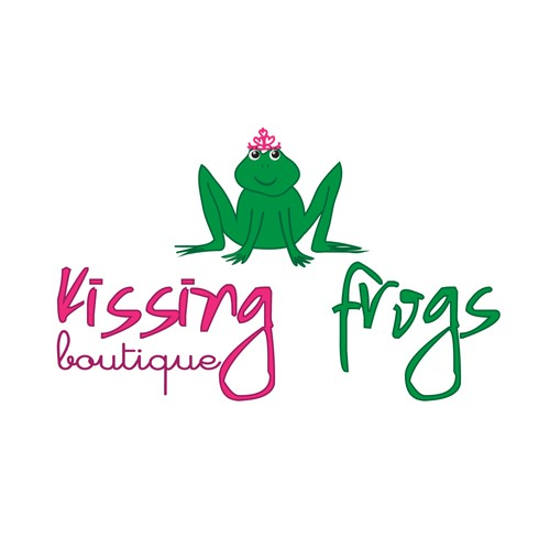 Sometimes you have to kiss a few frogs... Kissing Frogs Boutique needs a logo!
