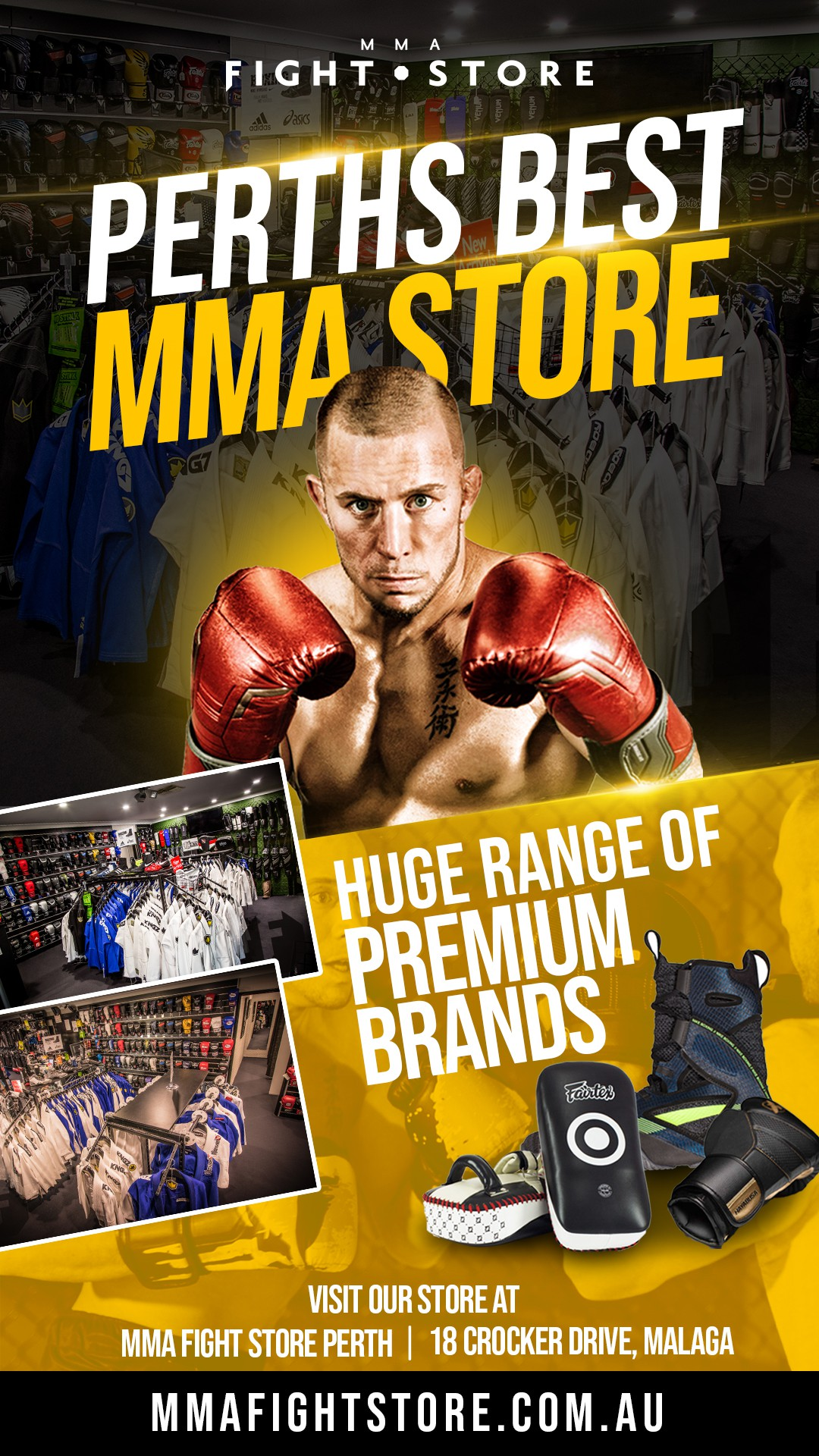 MMA Fight Store ad Poster