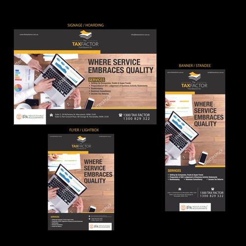 Tax Factor Banner & flyer design