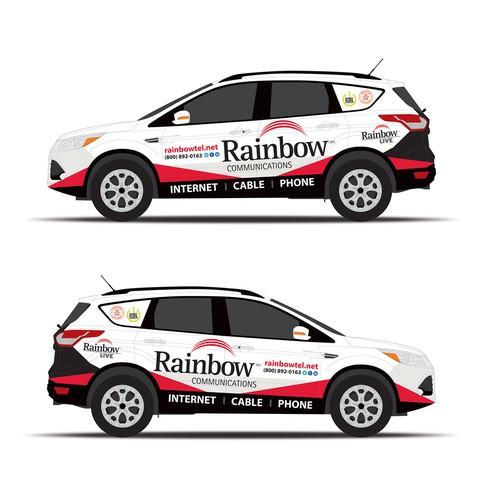 Car branding for communication provider