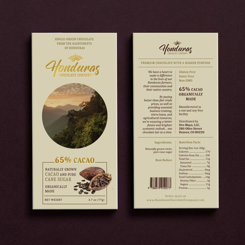 Packaging concept for organic chocolate