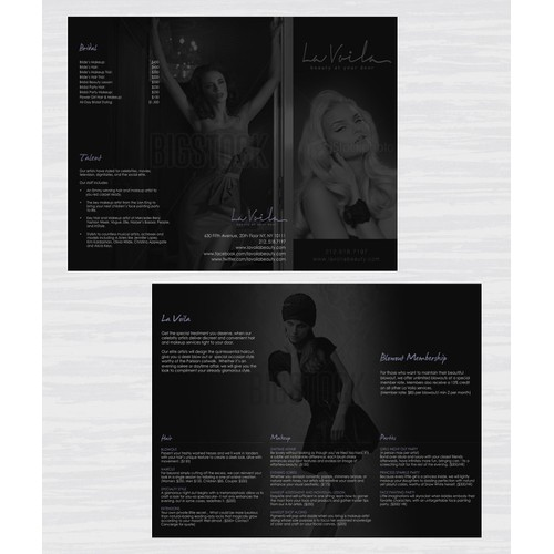 Brochure design for High End Beauty Company