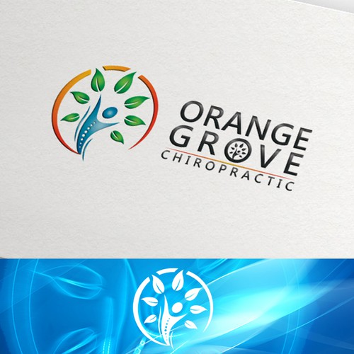 Orange Grove Chiropractic logo design