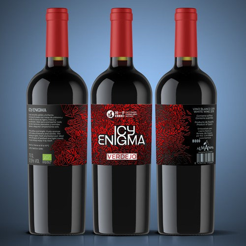 Icy Enigma Red wine label