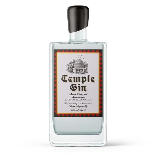 Gin label design concept