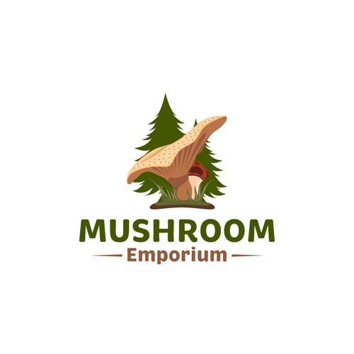 Mushroom Emporium Logo Design