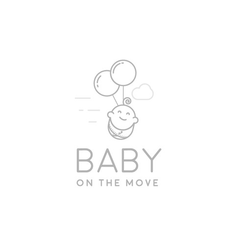 Modern and stylish logo for a brand of baby products.