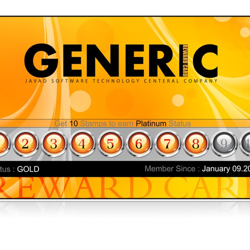 "Need beautiful design for a virtual ""frequent buyer card"""