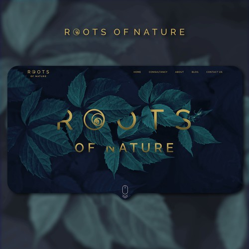 Roots of Nature Home-Page Design