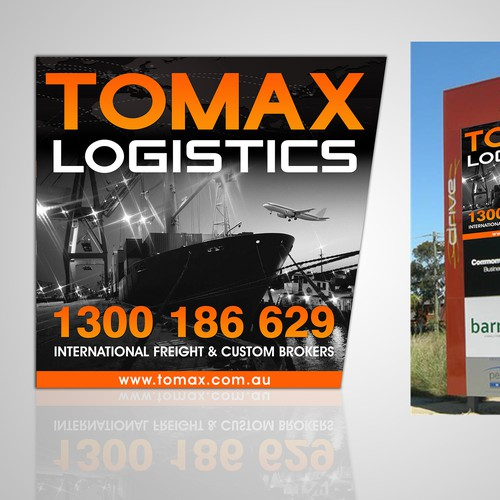 Eye Catching Sign for a Logistic company