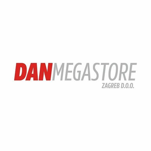 Branding, logo and identity for recently opened Dan Megastore in Zagreb, Croatia
