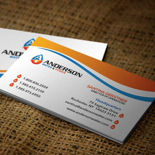 Nice Business Card for Anderson Water