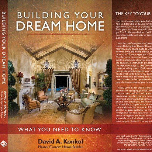 Elegant Jacket ReDesign for Book titled Building Your Dream Home