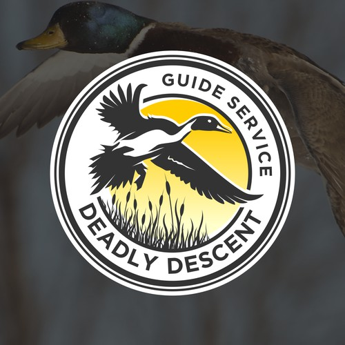Waterfowl Hunting Guide Looking for Kick-Ass Logo