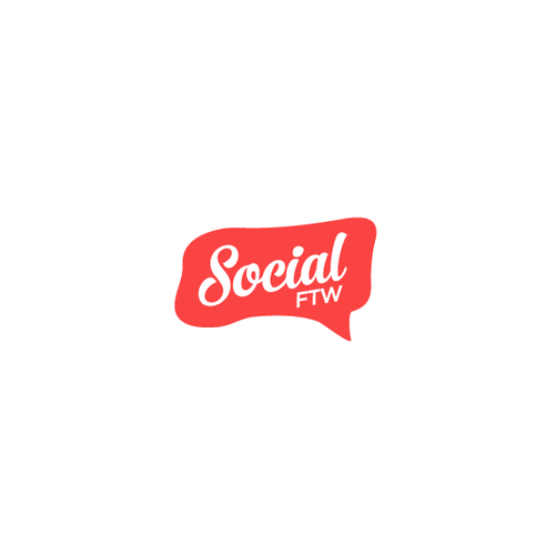 "Create a brand identity for our new social media agency ""Social FTW"""