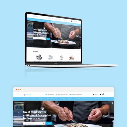 Webshop for kitchen equipment