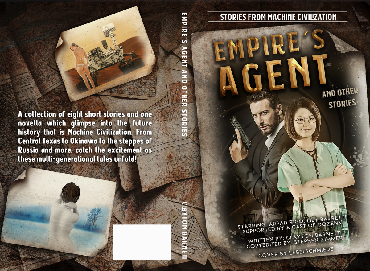 SciFi Short Story Collection with a Secret Agent cover