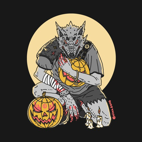 Halloween werewolf design